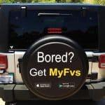 Advertise an App on a custom tire cover.
