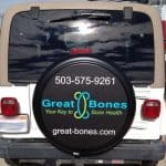 Spare wheel cover for advertising