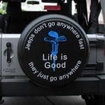 Life is Good tire covers: golfing