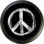 peace sign tire cover