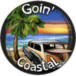 Goin' Coastal Funny Tire Cover