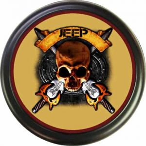 skull Jeep tire cover