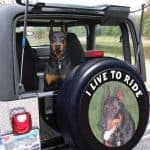 Personalized tire cover with a photo