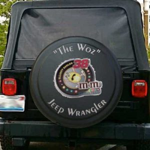 Car racing spare tire covers for Jeeps