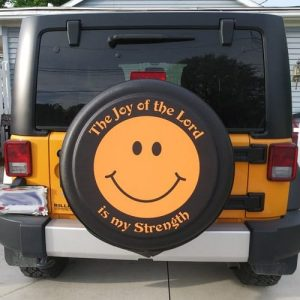 Jeep tire cover bible verse