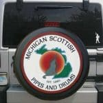 Organizations printed on tire covers